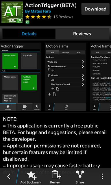 Would you like a Blackberry Triggers app like Tasker