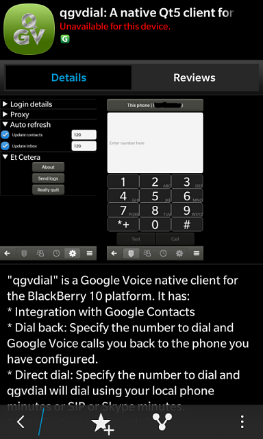 Native Google Voice client for BB10 - BlackBerry Forums at