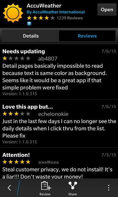 Accuweather app - BlackBerry Forums at CrackBerry com