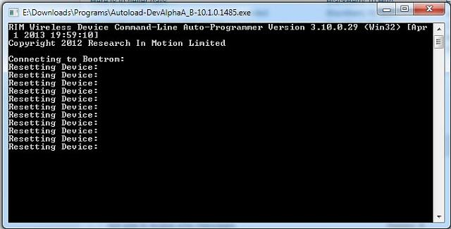 Not able to reset/update with autoloader - BlackBerry Forums