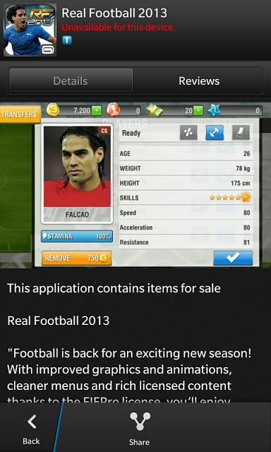 Free real football 2013 for blackberry