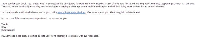 Want your favorite apps to Be on Blackberry 10? Let 'em know!!!!-hulu-reply.jpg
