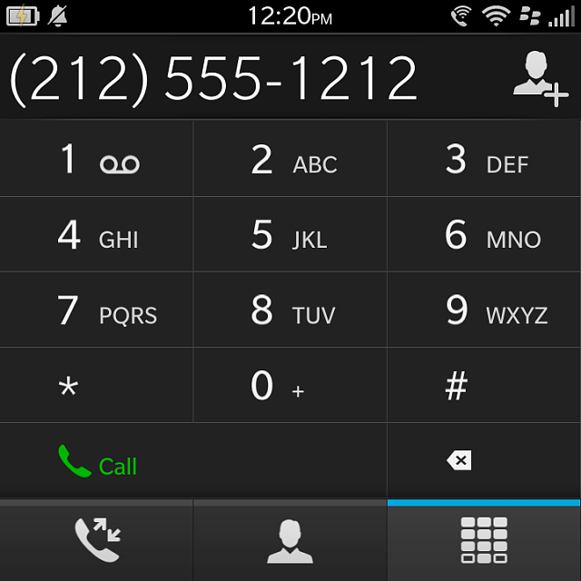 Post Part of Phone Number into Dial Pad in Phone - BlackBerry Forums at CrackBerry.com