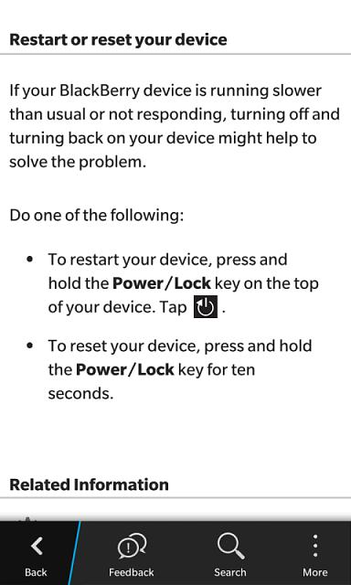 FAQ: How to restart / reset your BB10 device - BlackBerry