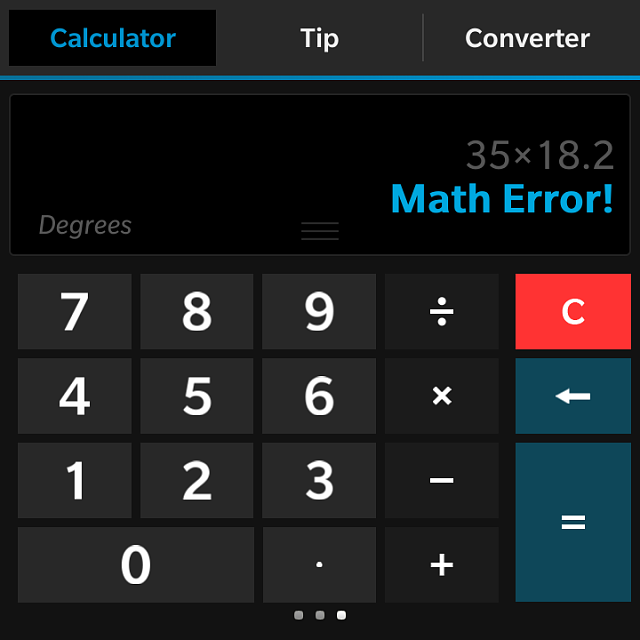 Calculator Math Error Blackberry Forums At Crackberry Com