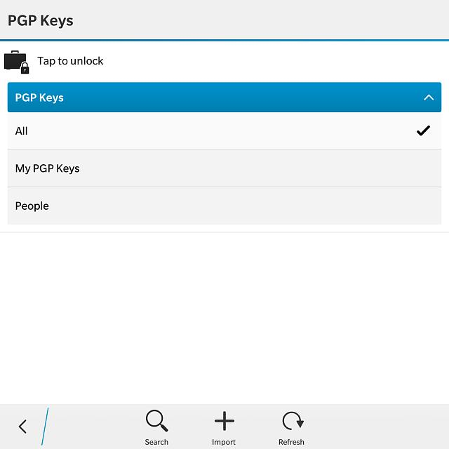 PGP integration on BlackBerry 10 for all users - BlackBerry Forums