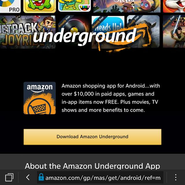 10 3 2 - How To use Amazon Underground instead of App Store