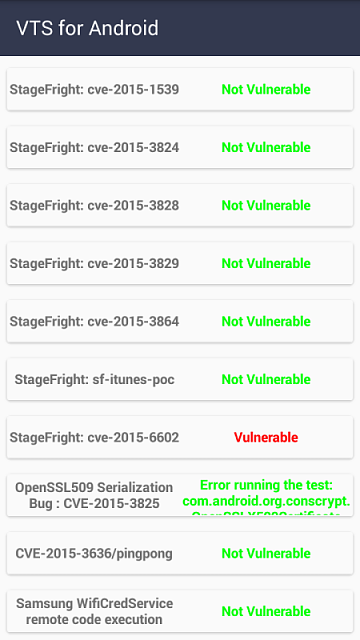Thought I'd run the VTS Android Vulnerability Test-img_20151113_175501.png