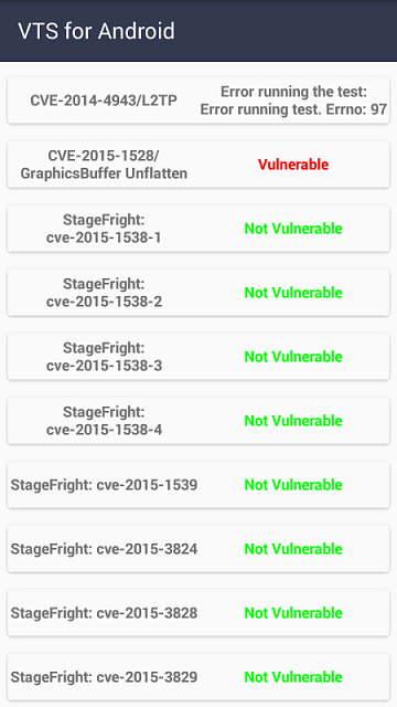 Thought I'd run the VTS Android Vulnerability Test-img_20151113_175457.png