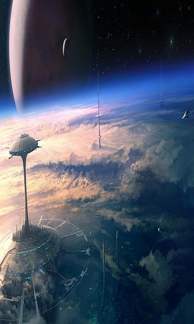 White Z10 wallpaper set-clouds-outer-space-stars-futuristic-planets-atmosphere-buildings-spaceships-sciencefiction-moons.jpg