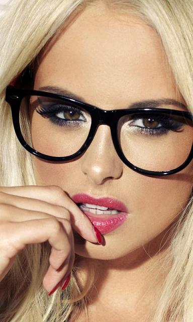 Hot Blonde With Glasses 111
