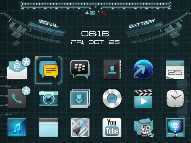 Premium] Animated Jarvis Theme - BlackBerry Forums at CrackBerry com
