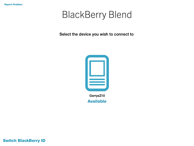 Blend on IPAD doesn't recognize New BlackBerry. Alway goes back to the old BB.-img_0044.png