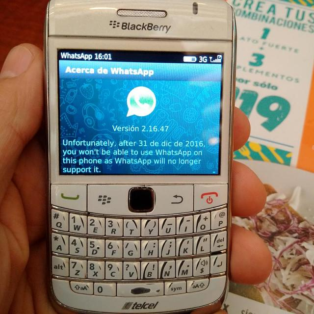 whatsapp blackberry curve 9360
