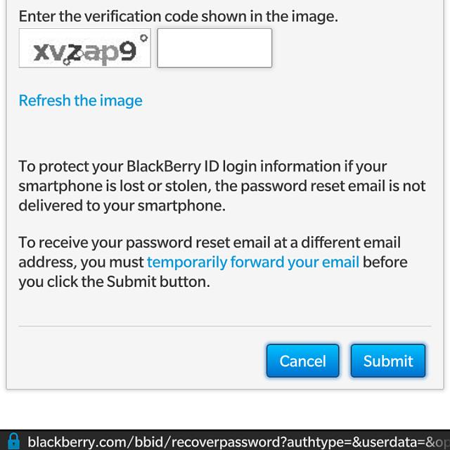 Blackberry Id Reset