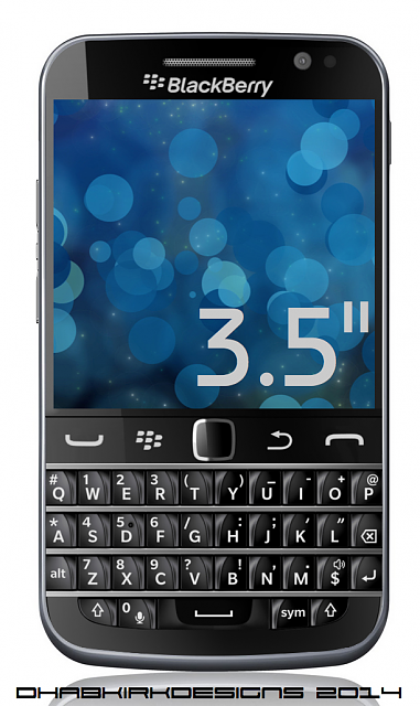 BlackBerry Classic With Curved Keyboard Renderings By DHabkirkDesigns-front.png
