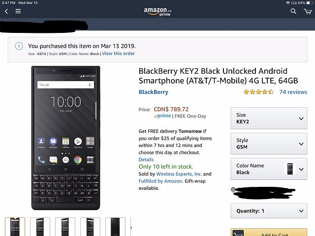 Buyer Beware: Amazon CA KEY2 Silver - BlackBerry Forums at