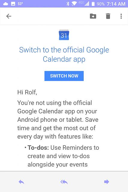 """Official Google Blog Introducing A New Youtube App For: """"You're Not Using The Official Google Calendar App"""