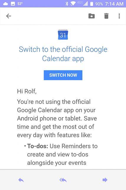 Gmail calendar not updating blackberry