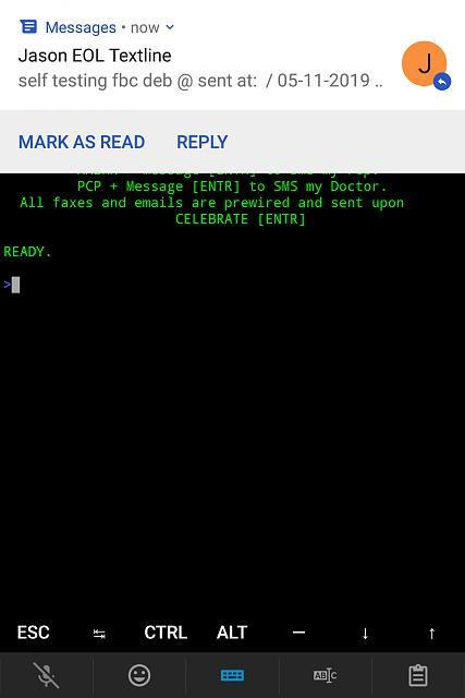 Linux distros on KeyOne native! I got my Debian on
