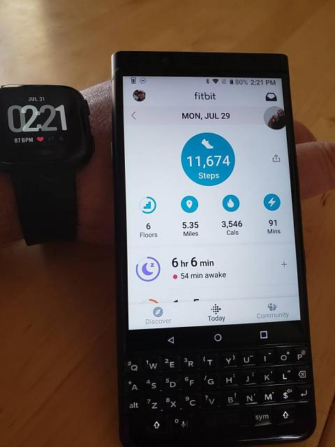 Keyone and Fitbit app no longer working-20190731_142148.jpeg