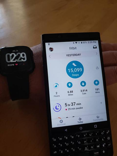 Keyone and Fitbit app no longer working - BlackBerry Forums at