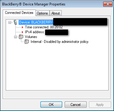 "If I see ""Volumes - Internal Disabled by Admin Policy"" in BlackBerry Device Manager. . . .-internal-volumes-disabled-policy-redact.png"