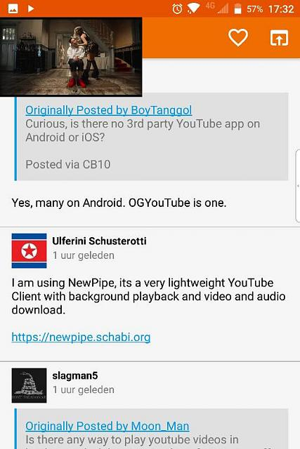 How can I play YouTube in background like on BB10? - BlackBerry