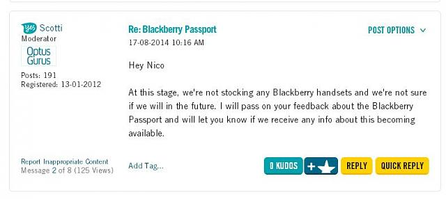 What do you think the BB Passport should be sold for direct from BlackBerry?-optus-passport.jpg