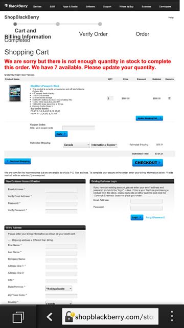 Blackberry z30 coupon code canada