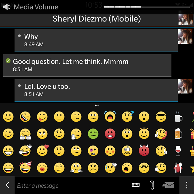 So BlackBerry 10.3 doesn't have emojis?-img_20141018_105306.png