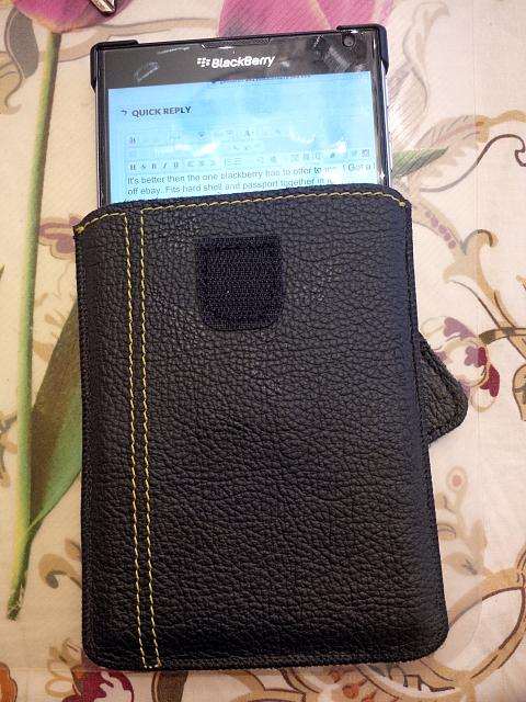 New leather case back TETDED for passport - BlackBerry