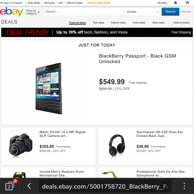 ebay daily deals today