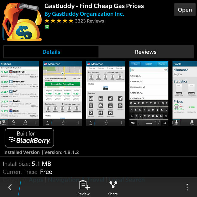 Gas Buddy on Blackberry Passport-img_20150113_184120.png