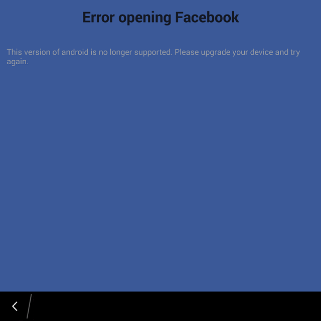Why do I get this message while opening FB app? FB from snap!-img_20150119_183253.png