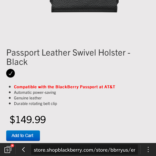 Shop BlackBerry holster listed as compatible with at&t redesign passport-img_20150301_222442.png