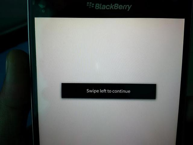 Black patch on my blackberry screen turns