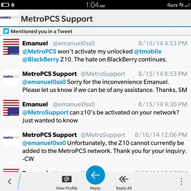 Will a Passport work on MetroPCS? - BlackBerry Forums at