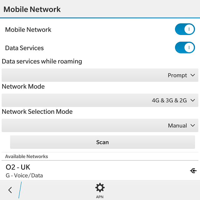 how to connect mobile data