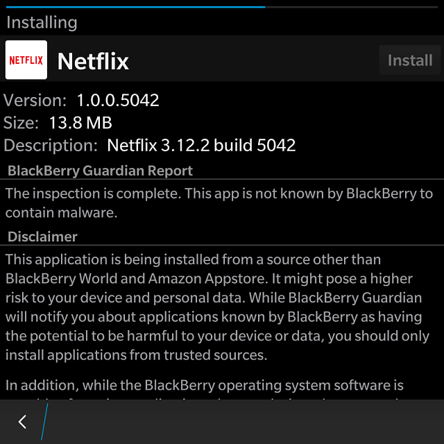 This Netflix android app. Is working on BlackBerry passport.-img_20161111_174812.png