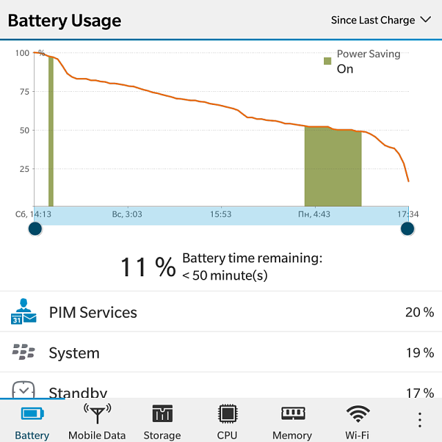 How much is your BlackBerry Passport battery life? Let's compare..-img_20161226_173658.png