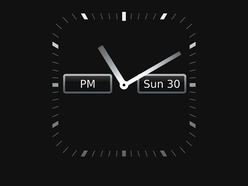 Attached Thumbnails Fullscreen clock app - similar to the one on the BB 9300?