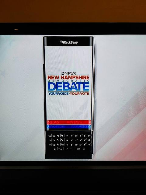 Blackberry Priv Sponsoring the Democratic National Debate on ABC-1450574271072.jpg