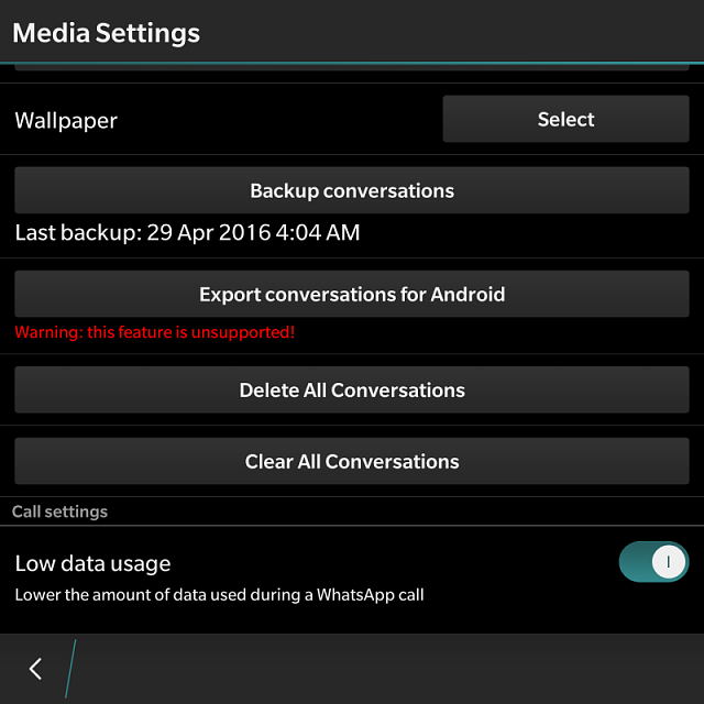How do you transfer Whatsapp conversations from BlackBerry