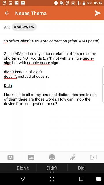 Autocorrection offers <didn''t> as word correction (after MM update)-uploadfromtaptalk1462508178161.jpg