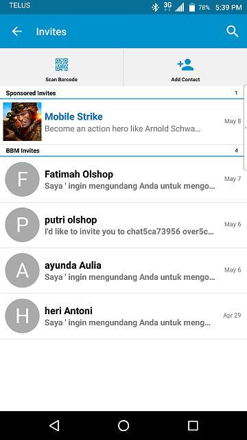 Bbm spam invite on priv blackberry forums at crackberry bbm spam invite on priv axcn96wg stopboris Choice Image