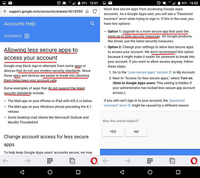 "Google considers Hub an ""unsecure app"" which ""doesn't uses modern security standards"" + Some bugs.-3.jpg"