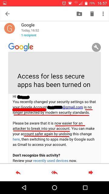 "Google considers Hub an ""unsecure app"" which ""doesn't uses modern security standards"" + Some bugs.-4.jpg"