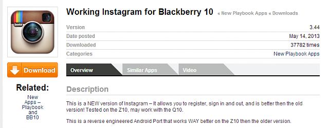 "Instagram 4.0.2 Not working on Q10 10.1.0.4181 ""incompatible device error ""-3.44.png"