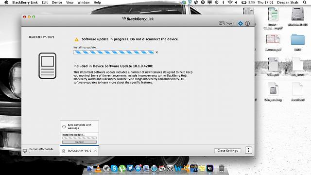 blackberry q10 os update problems